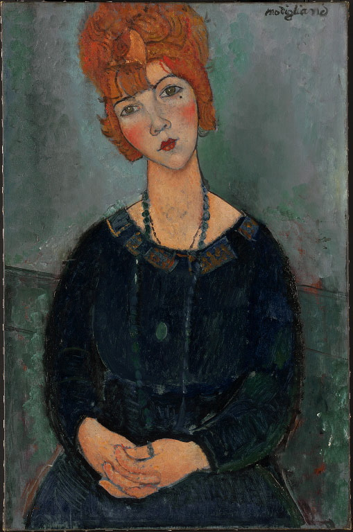 Woman with a Necklace , 1917 Amedeo Modigliani (Italian, 1884–1920)