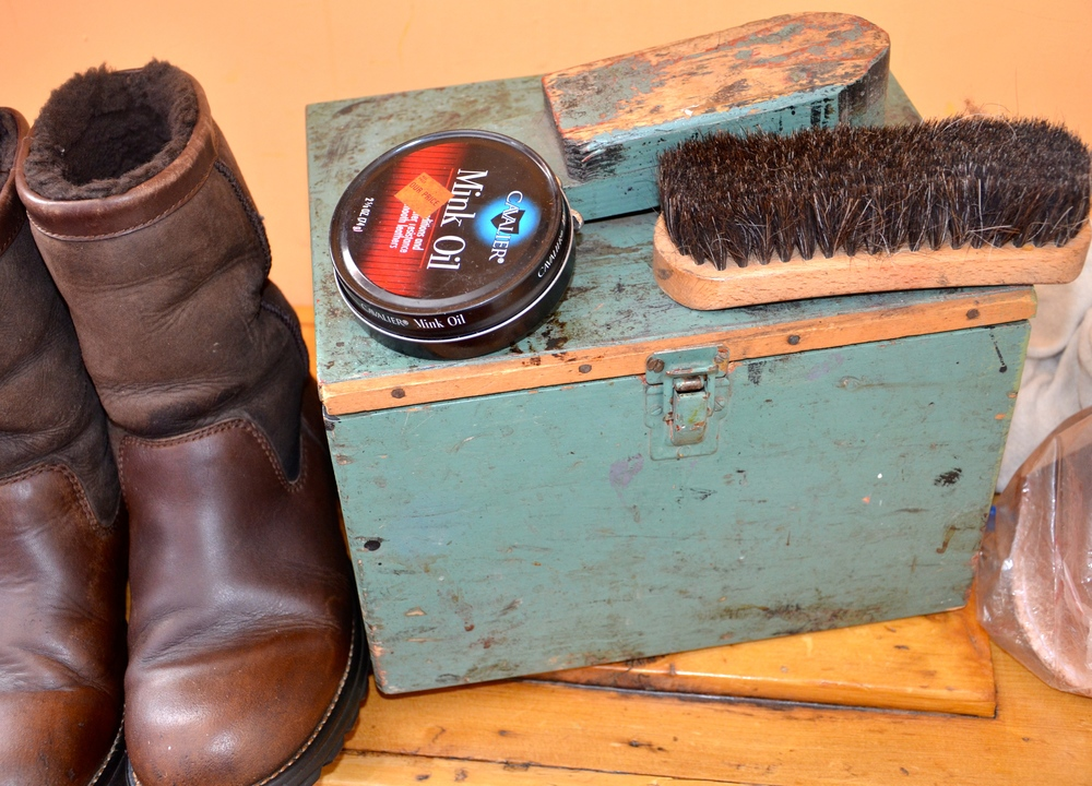 He made this shoe shine kit and now my husband and I use it. It's worn, stained, crevices remind me of him; sturdy, well used, and loved.