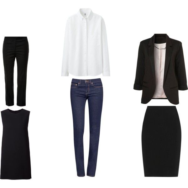 *Black Trouser, Shift Dress, Straight Leg Blue Jean, Oxford Shirt, Tailored Blazer & Pencil Skirt