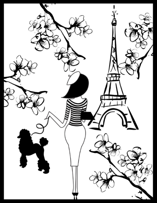 """Follow La Parisienne"" Logo ™"