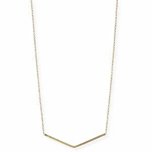 Wide-V Pendant Necklace