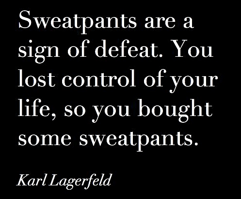 Karl Lagerfeld - The Man Has Got A Point!