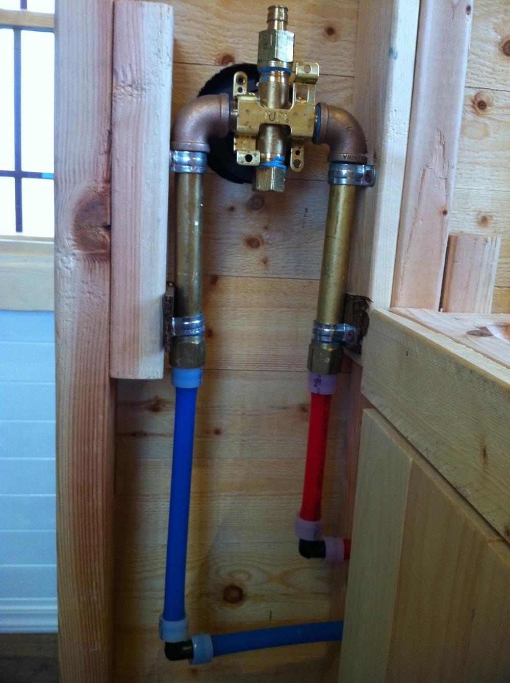 Plumbing The Tiny Tack House