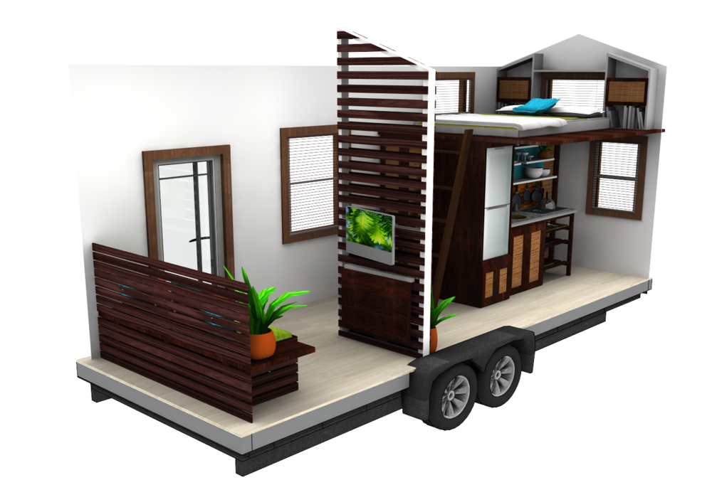 Tiny house challenge the sims forums for Small house design on wheels