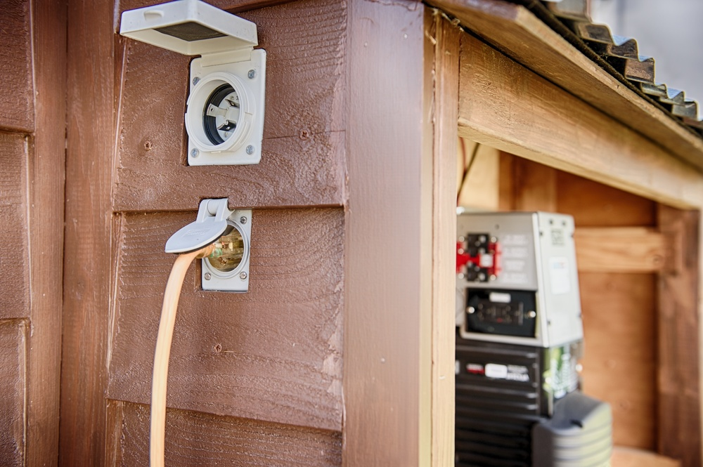 Electrical hookup for rv
