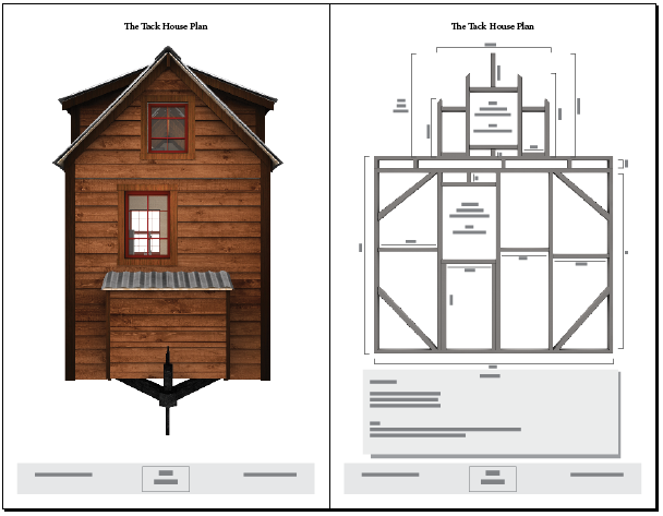 Tiny tack house plans the tiny tack house for Tiny home designs plans