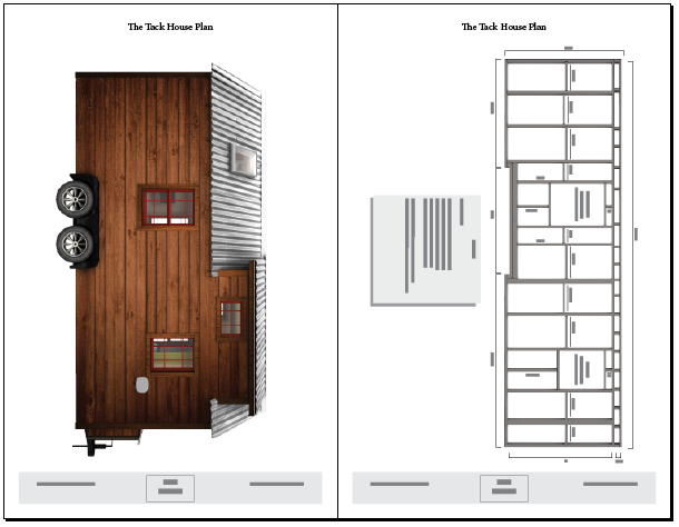 Tiny tack house plans the tiny tack house for Blueprint small house plans
