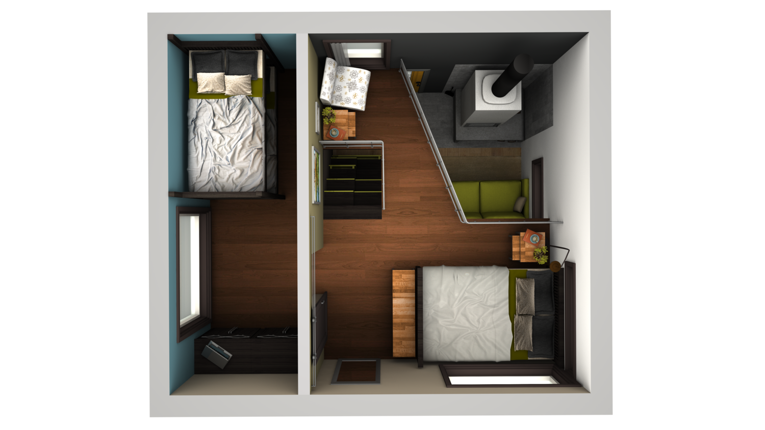 I cannot stop obsessing over this tiny home design more for W loft