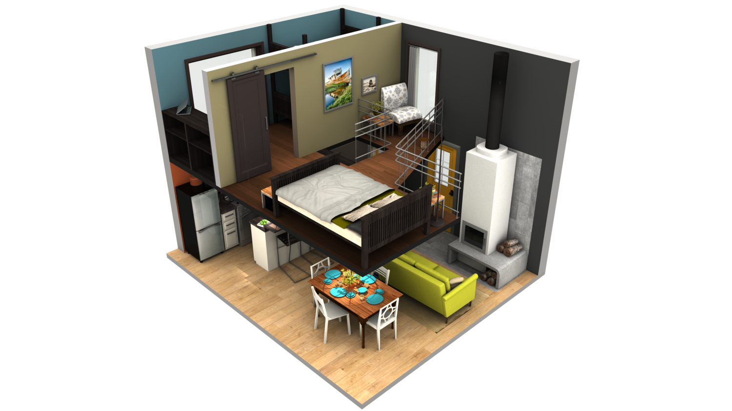 Small House Plans With Big Kitchens I cannot stop obsessing over this Tiny Home design. (More ...