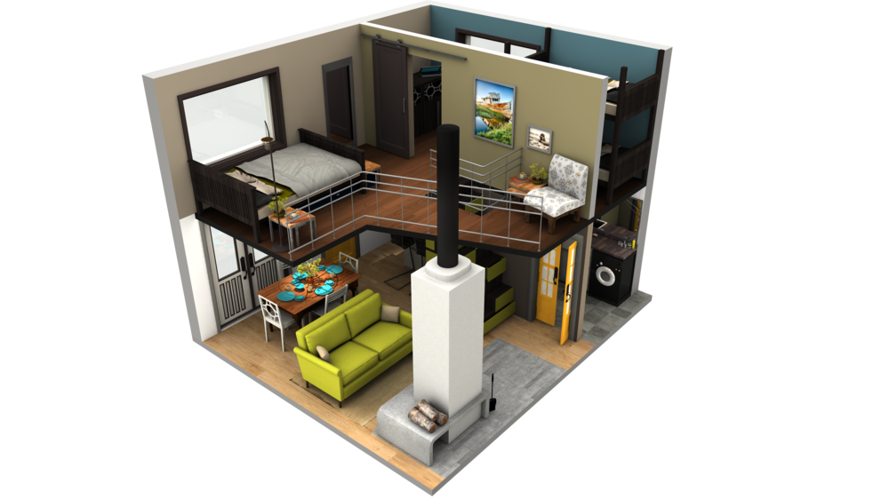 3d house plans tiny home images gallery - Small House Plans With Loft
