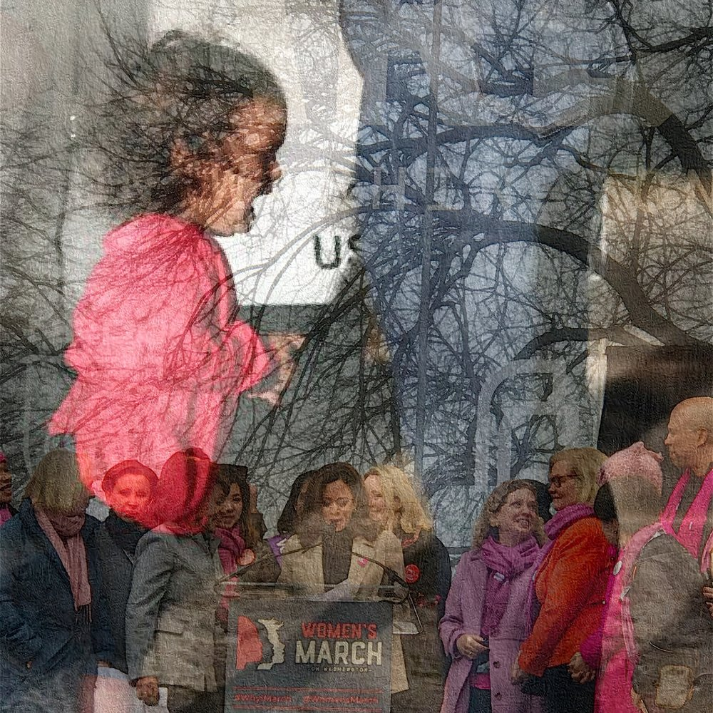 The historic Women's March on this day in 2017… - and the reality of the legitimate fear that propelled that day.iPhone 7+, Procreate, iColorama
