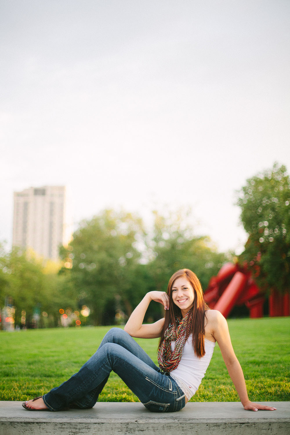 Downtown Seattle Girl Senior Portrait