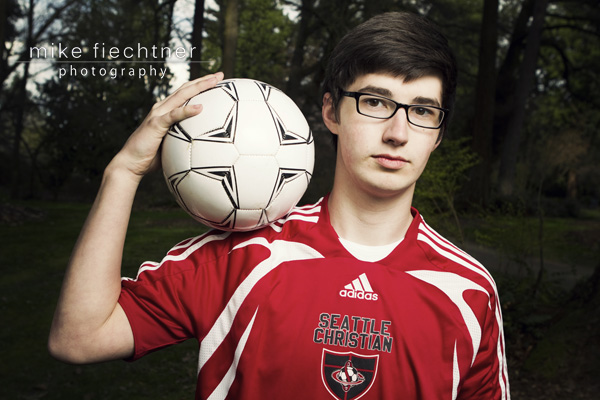 Senior Portrait photographed by Mike Fiechtner Photography at the Arboretum Seattle Washington