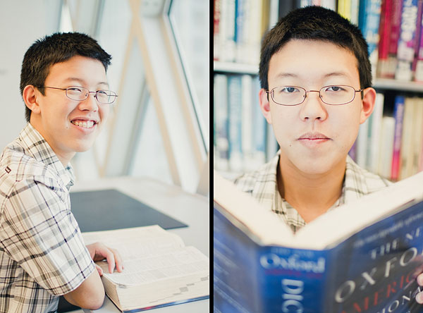 library senior portrait