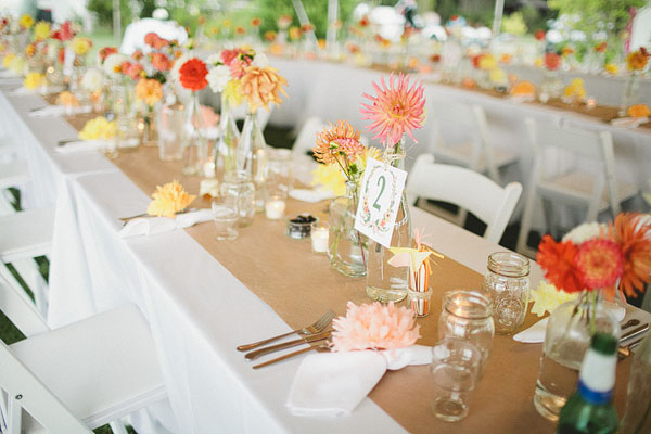table details at wedding