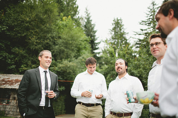 groomsmen hanging out