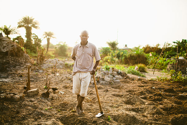 Liberian farmer field portrait