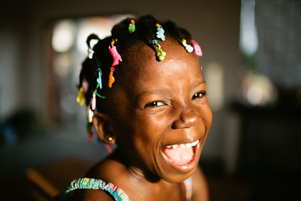 Liberia girl laugh