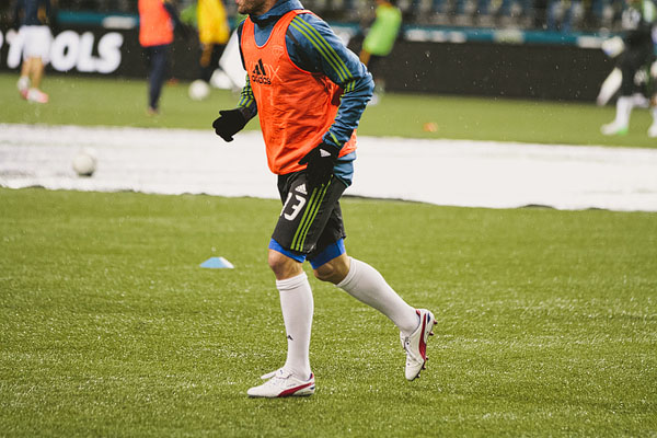 Seattle Sounders playoff warmups