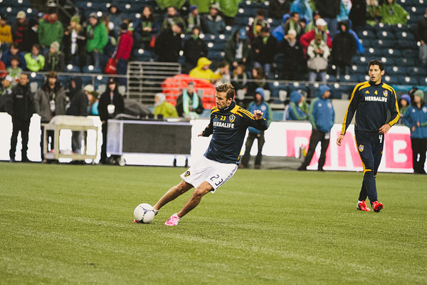 David Beckham LA Galaxy playoff against Seattle Sounders FC