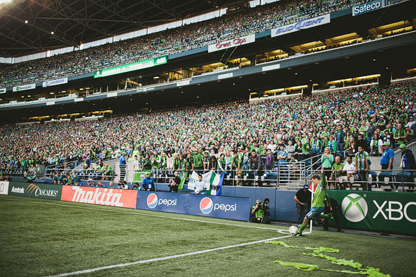 corner kick Seattle Sounders FC