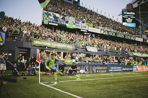 corner kick Seattle sounders