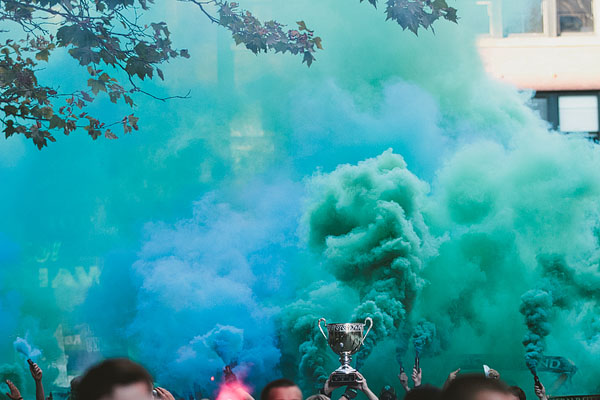 smoke bombs Seattle Sounders