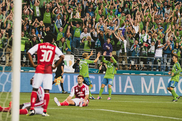 goal reaction Seattle sounders