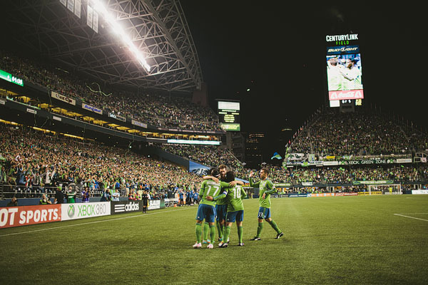 Seattle Sounders goal reaction