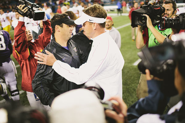 Steve Sarkisian Lane Kiffin