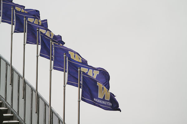 Huskies flags