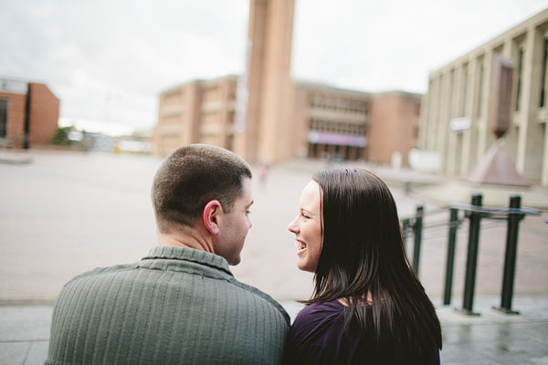 good looking couple engagement photography in Seattle