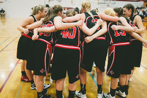 Seattle Christian team huddle