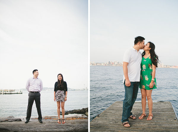 fun Alki engagement photos