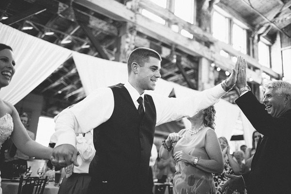 groom high fiving