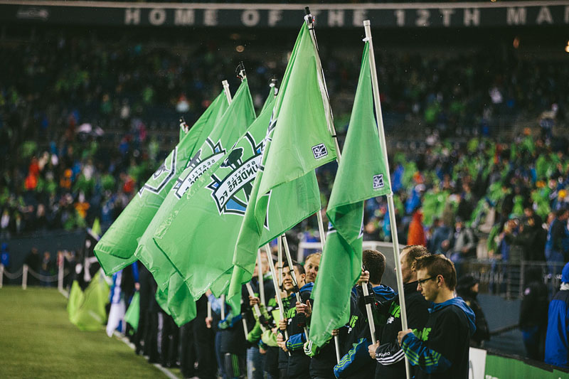 Sounders flags