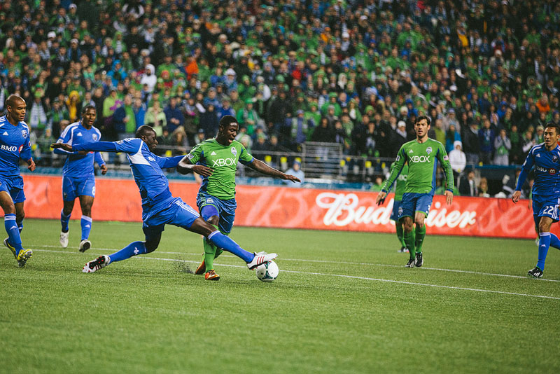 Eddie Johnson fouled seattle Sounders