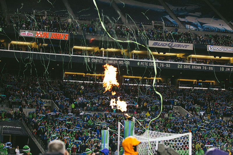 pyrotechnics Seattle Sounders