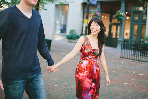 Pioneer square engagement photography