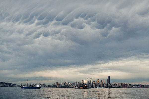 crazy Seattle sky clouds