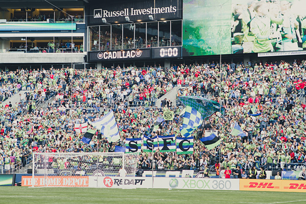 Seattle Sounders vs Manchester United at CenturyLink Field 2011