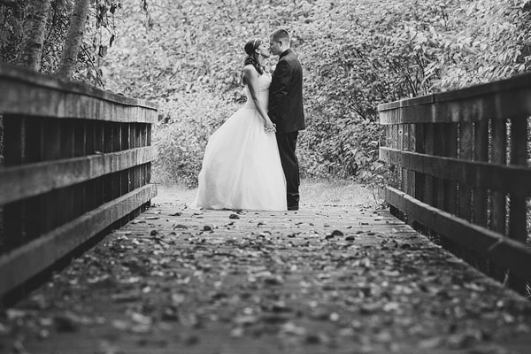 bridge wedding photograph