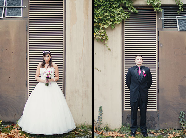 diptych bride and groom