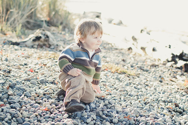 rocky beach toddler