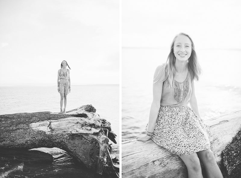 Seattle girl senior portrait photographer