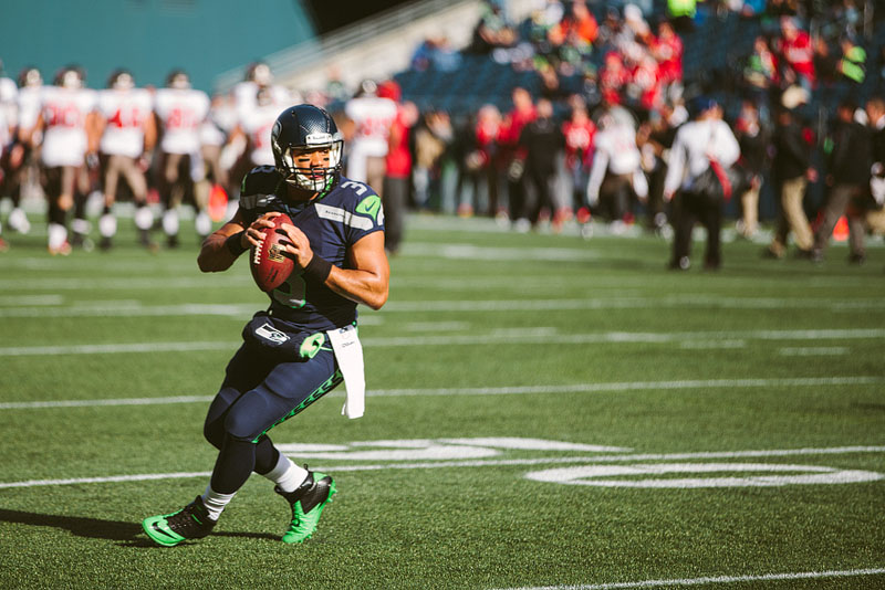 Seattle Seahawks sports photography Russell Wilson