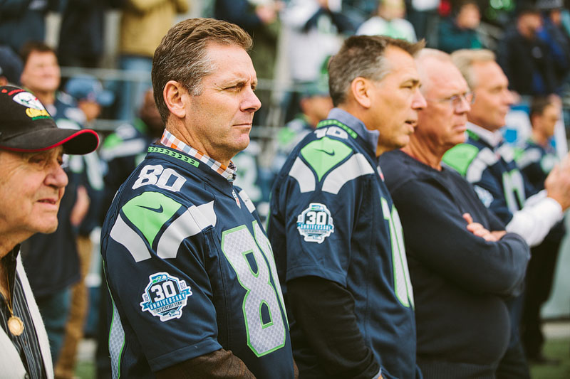 Seattle Seahawks sports photography Steve Largent