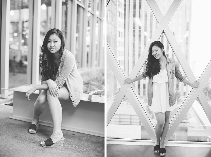 Seattle girl senior portrait by Mike Fiechtner Photography