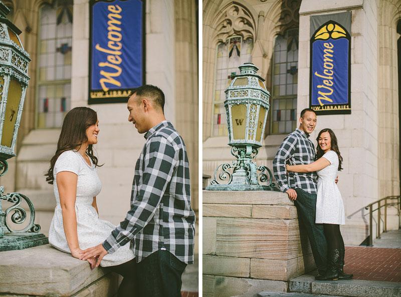 University of Washington engagement photography