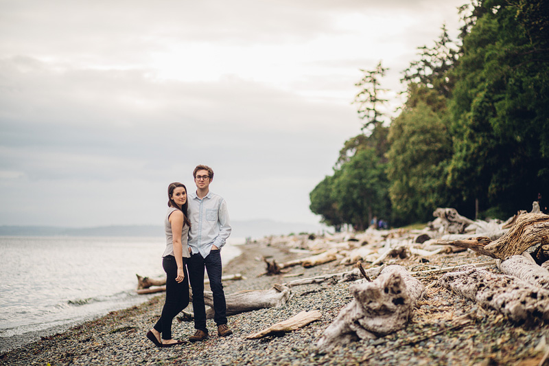 Seattle engagement photography at Lincoln Park